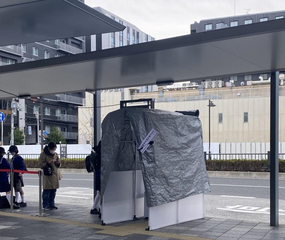 バスの除菌テント