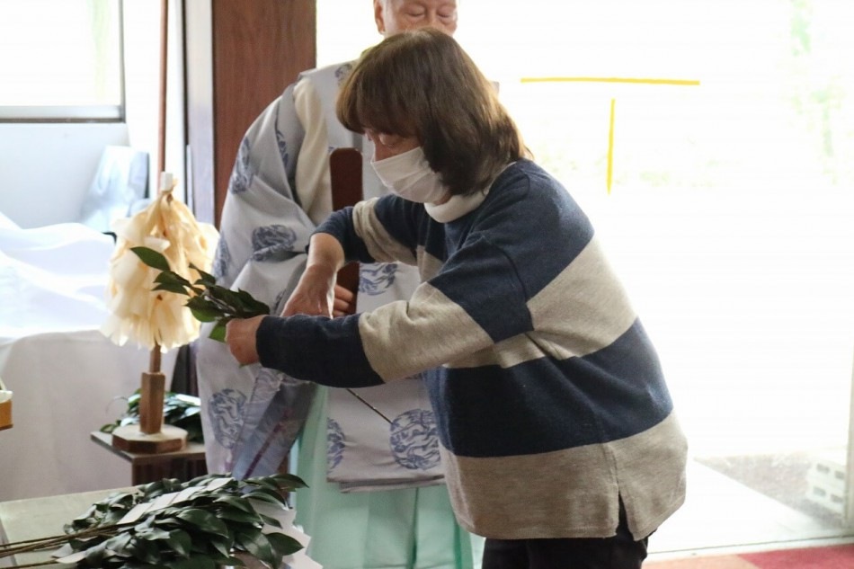 安全祈願祭の玉串奉奠